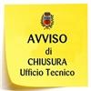 CHIUSURA RICEVIMENTO AL PUBBLICO UFFICIO TECNICO