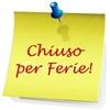 CHIUSURA UFFICIO TECNICO PER FERIE